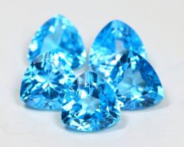 Swiss Topaz 17.19Ct VS Trillion Cut Natural Swiss Blue Topaz Lot SA311