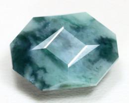 Jadeite Jade 9.94Ct Master Cut Natural Green Jadeite Jade ET219
