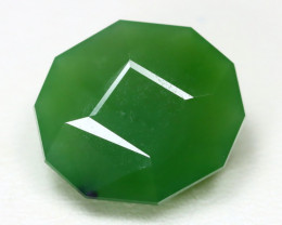 Nephrite 10.44Ct Master Cut Natural Onot River Green Nephrite Jade ST798