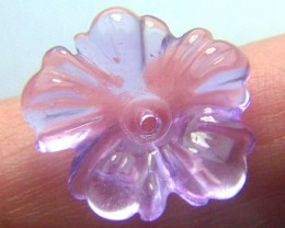 AMETHYST FLOWER CARVING GEM GRADE  3.85CTS AS-1935