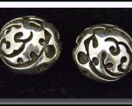 Tribal Tattoo Silver 925 Stud Earrings