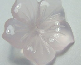 ROSE QUARTZ FLOWER CARVING GEM GRADE 6.40 CTS AS-1982