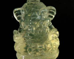 LEMON  QUARTZ  CARVING OF GANESHA   11.70 CTS  [MX 4711]