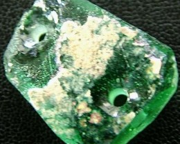 ANCIENT GLASS BEAD - AFGANISTAN-FACE DRILLED 10.60CTS MX4726