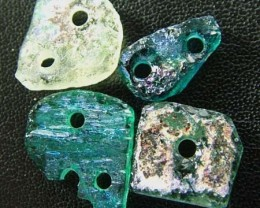 PARCEL ANCIENT GLASS -AFGANISTAN-FACE DRILLED 6.95CTS MX4735