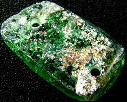 ANCIENT GLASS BEAD -AFGANISTAN- FACE DRILLED 12.85CTS MX4762