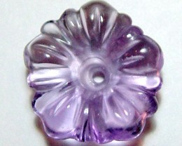 AMETHYST FLOWER CARVING GEM GRADE  5.15CTS AS-2046