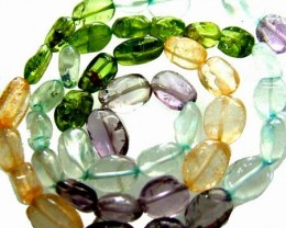 FOUR DIFERENT  COLOURFUL STONES  IN STRAND 74.50 CTS GT 1564