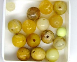ASSORTED NATURAL BEADS (PARCEL) 45 CTS  NP-1529