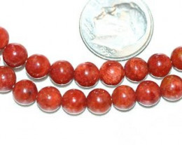SPONGE CORAL BEADS - 130 CARATS