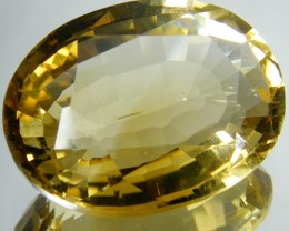 CERT LARGE GOLDEN CITRINE GEMSTONE 16.43 CARATS  0127