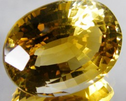 CERT LARGE GOLDEN CITRINE GEMSTONE 23.28CARATS  0129
