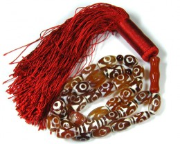 SOLOMON AGATE  PRAYER BEADS 401 CARATS     TO356