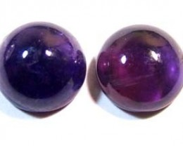 AMETHYST CABS (2PC) 10 CTS CG-1055
