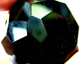 BLACK ONYX BEAD FACETED   135 CTS   AS-2162