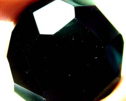 BLACK ONYX BEAD FACETED   114 CTS   AS-2169