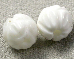 5 CTS   SHELL CARVED BEADS DRILLED    AS-2196