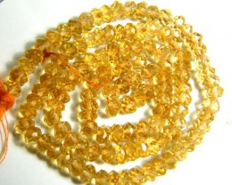 CITRINE  BEADS DRILLED FACETED 45 CTS 4 MM NP-1965