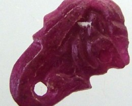 RUBY LION CARVING 5.41 CTS [MX 4857]