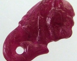 RUBY LION CARVING 3.83 CTS [MX 4871]