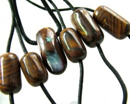 CHOCOLATE IRONSTONE BEAD PARCEL 258.60 CTS [GT 1755]