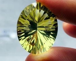 14.70 carats, Natural Laser Cut Citrine
