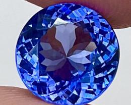 5.43 CT $3000 11X11MM  Rare Natural Unheated Blue Tanzanite TNS52
