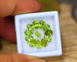 5.00ct Natural Green Peridot Pear Cut Lot B4360
