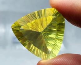19.95 carats,  Natural Laser cut citrine