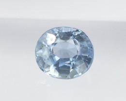1.5ct unheated light blue sapphire