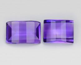 Amethyst 3.44 Cts 2Pcs Natural Purple Color Gemstone