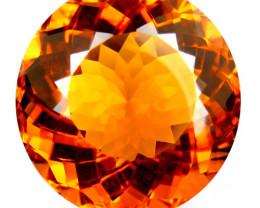 5.19Cts Genuine Natural Citrine Round Shape 11mm Loose Gemstone