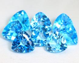 Swiss Topaz 17.4Ct VVS Trillion Cut Natural Swiss Blue Topaz Lot SA633