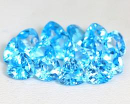 Swiss Topaz 16.0Ct VVS Trillion Cut Natural Swiss Blue Topaz Lot SA637