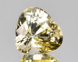 1.54 Cts Unheated Natural Yellow Sapphire Heart Cut Ceylon - Sri Lanka