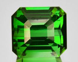 4.60 Cts Natural Neon Green Tourmaline Octagon Cut Nigeria