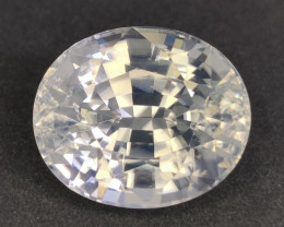 25.85 Cts Excellent Natural Unheated White Zircon Oval sri lanka