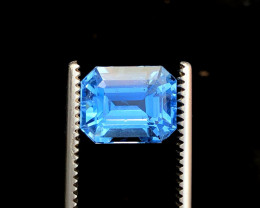 4.69cts Aquamarine Gemstone , Santa Maria Color Aquamarine