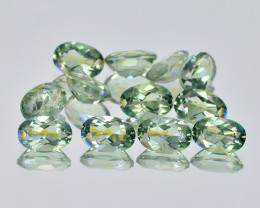 Azotic Topaz 5.25 Cts 12Pcs Green Color Natural Gemstones