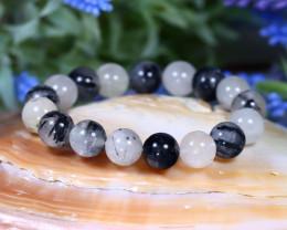 12.0mm 198.00Ct Natural Rutile Quartz Beads Bracelet C0622