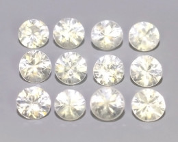 2.10 CTS EXCELLENT NATURAL WHITE ZIRCON~ ROUND  ~ NICE QUALITY GOOD LUSTER!