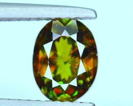 GFCO- 1.33Ct Sphene Color Change Top Fire Chrome (Titanite) Gemstone @Pakis