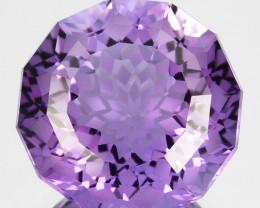 6.52 Cts Genuine 100% Natural Amethyst Round Shape Custom Cut REF VIDEO