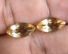 7x14mm Citrine Pair Natural Marquise Faceted Gemstone VA1442