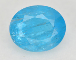 Neon Blue Apatite 2.89 Cts Unheated Natural Gemstone