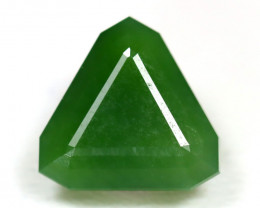 Nephrite 3.06Ct Trillion Cut Natural Onot River Green Nephrite Jade SA762