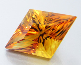 11.40Cts Genuine Natural Citrine Fancy precision Cut Loose Gemstone