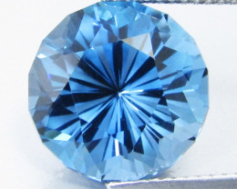 9.54Cts Sparkling Natural London Blue Topaz Round precision Cut Loose Gemst