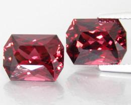 8.80Cts Genuine Natural Unheated Rhodolite Garnet Fancy Cut Matching Pair