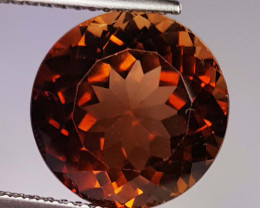 8.14 Ct Top Quality Round Cut Natural Champagne Topaz